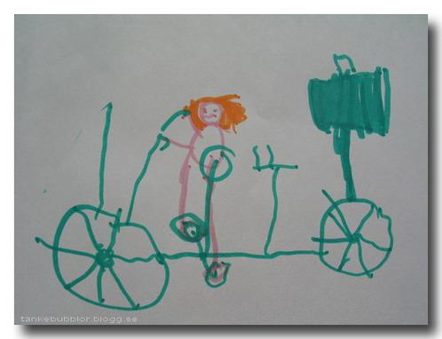 en grön cykel