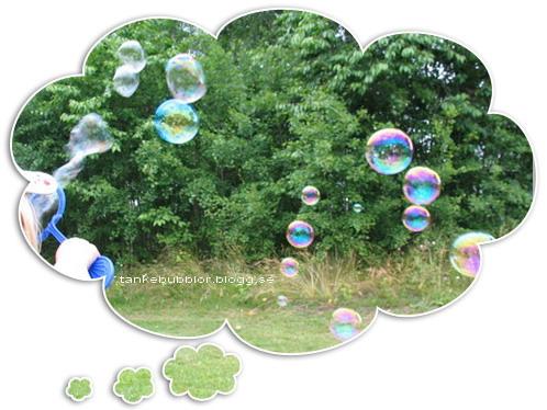 såpbubblor i tankebubbla