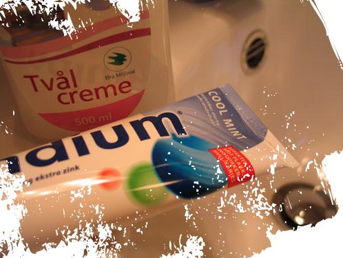 tvål och tandkräm