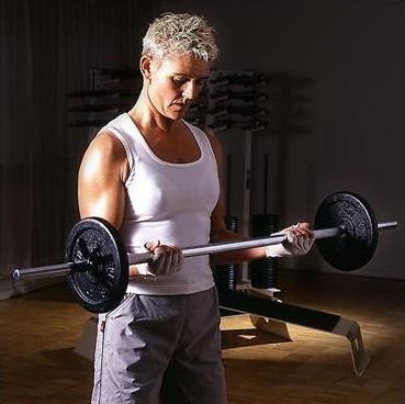skivstång biceps