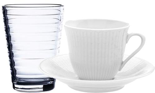 glas och kopp