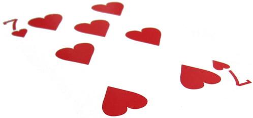 spelkort hjärter 7