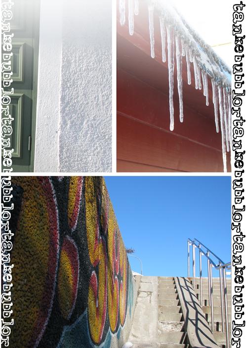 dörr vägg istappar graffiti