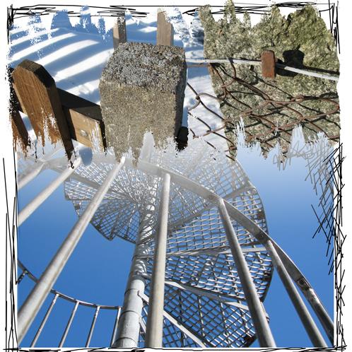 staket stolpte spiraltrappa
