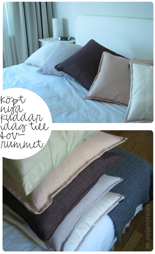 kuddar till sovrummet milda färger