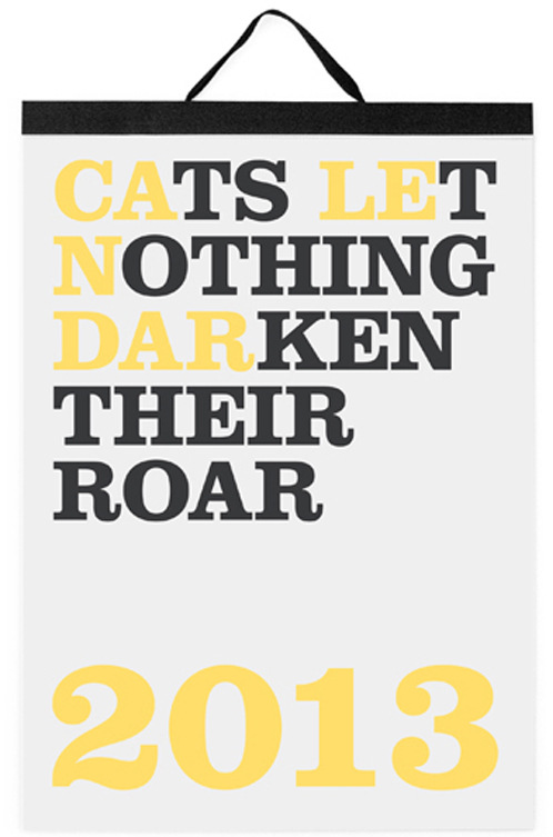 cats let nothing darken their roar