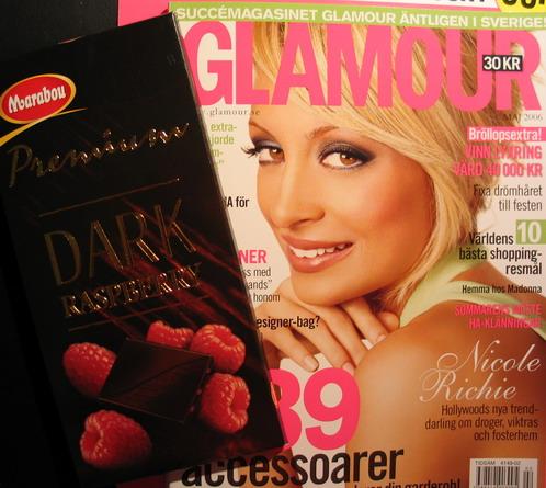 choklad + tidning