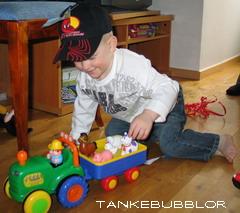 traktor och vagn
