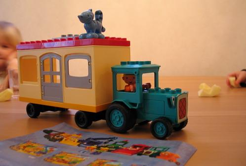 traktor och husvagn